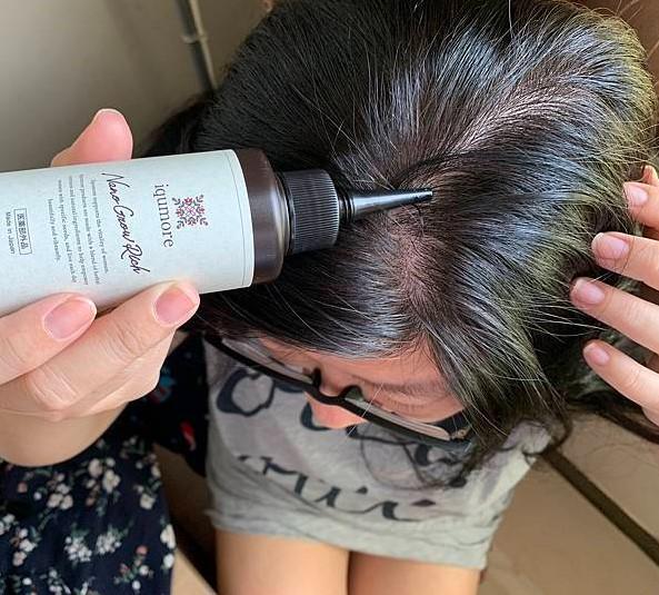 使用盈可沛養髮露